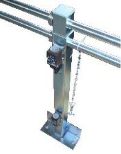 Fahrkorbdach-Geländer, teleskopierbar, 700-1100mm
