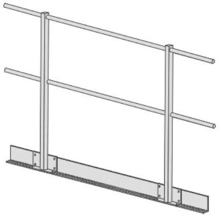 Fahrkorbdach-Geländer, Feste Höhe, 1100mm