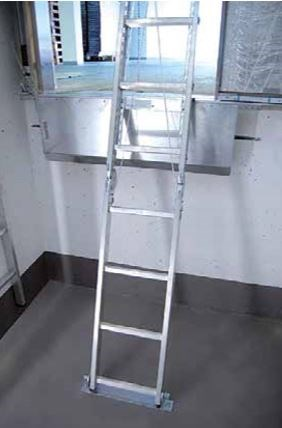 Two-piece pit ladder, Typ E, 2,25m