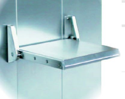 Folding seat, stainless steel, B=395mm, D=400mm