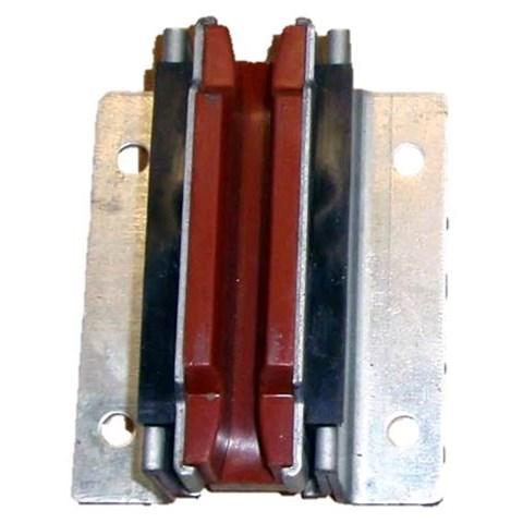 Guide shoe w insert, KONE Monosp. 129x104x55,16mm, elevated, 4-pack