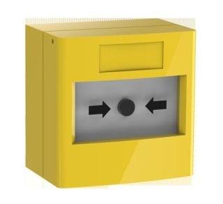 Alarm button (fire), 2 CO, yellow