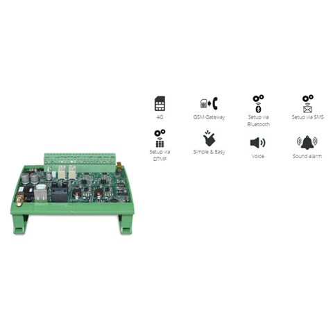 Emergency phone, Digicom, 4G/LTE connector, for DIN-rail