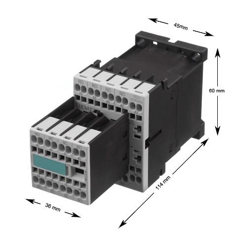 Kontaktorrelä, Siemens, 3RT1016-2BC44, 30VDC/4kW