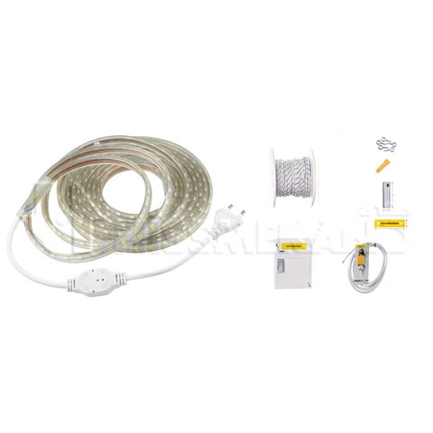 Schachtbeleuchtung m Seilzugschalter, LED auf Rolle, 5 Halt, 18m