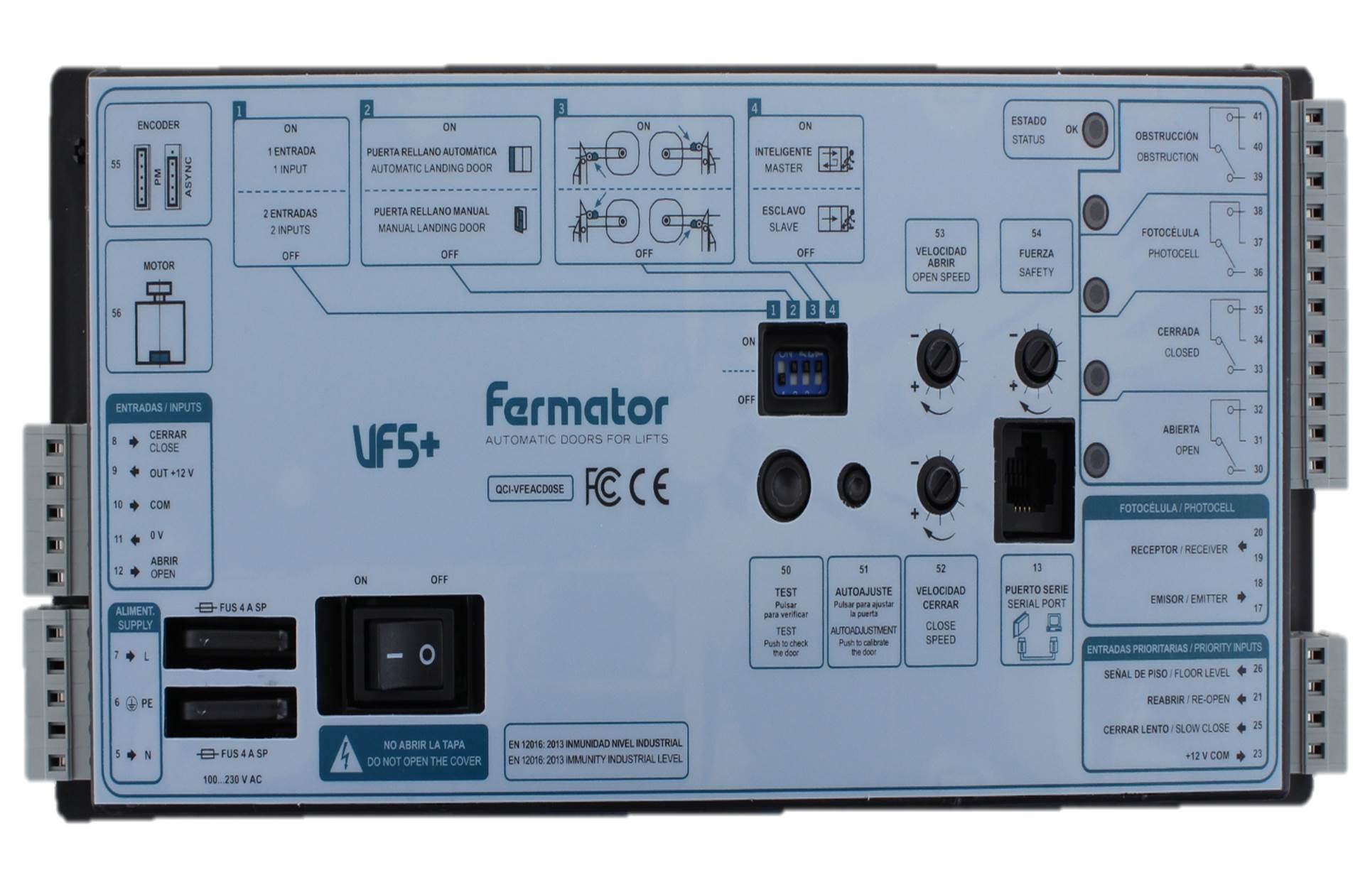 hissmekano door controller pm fermator vf5 right english label rh hissmekano com fermator door installation manual fermator door gear manual